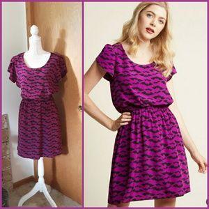 EUC Modcloth Oh My Gosh Dress in Bats XL